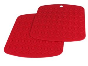 Eco Friendly, Washable, Dishwasher Safe, Home Kitchen Gifts, Premium High Quality Red Heat Grips Multiuse by CookingBoss