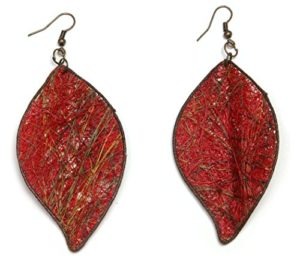 Fique Leaves Eco Friendly Earrings