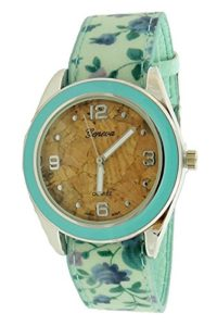 Geneva Authentic Eco Friendly Cork Dial Women's Watch L2223