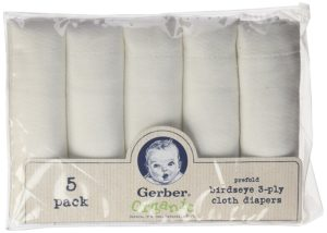 Gerber Organic Birdseye Prefold Cloth Diaper
