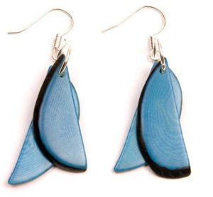 Tagua Fragments Eco Friendly Earrings
