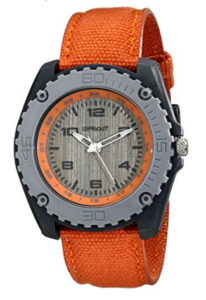 Sprout Unisex ST3001GYGYOR Corn Resin Orange Organic Cotton Strap Watch