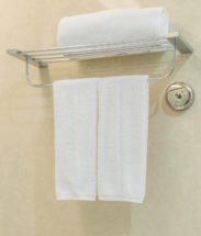 Bamboo Towel Rod For A Chic Organized Bathroom